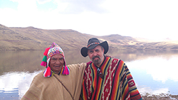 Don Lorenzo & Owen Roberts at Peru's Golden Lake